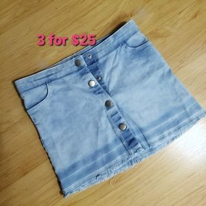 H&M kids girls denim skirt size 3-4 yrs
